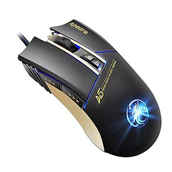 Apedra A5 High Precision optical LED Gaming Mouse-3200 DPI