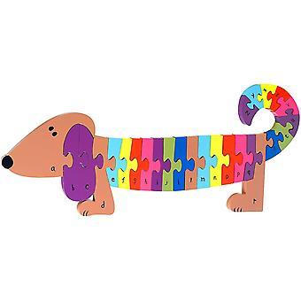 Orange Tree Toys Alphabet Hond Puzzel