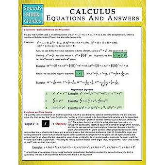 Calculus Equations And Answers  Speedy Study Guides by Publishing LLC & Speedy