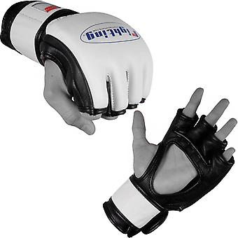 Fighting Sports MMA Cage Gloves - White/Black