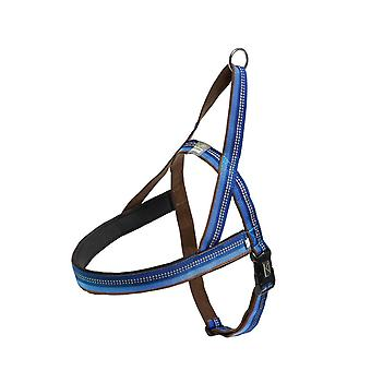 Dog harness blue with reflex