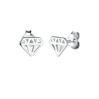 Elli ? Kolczyki damskie Symbol diamentu trend w kolorze srebrnym 925 ? 0305420815