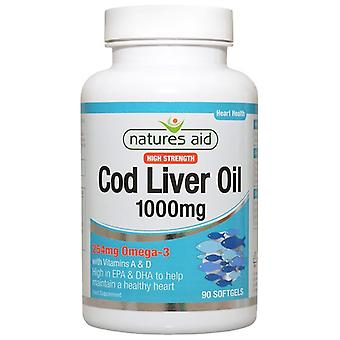 Nature's Aid Cod Liver Oil (High Strength) 1000mg Softgels 90 (15120)