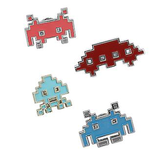 Official Space Invaders Arcade Pin Badge Set