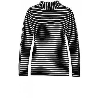 Taifun Navy & White Striped Top