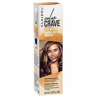 Clairol Color Crave Hair Make Up Washes Out with Shampoo 45ml Shimmering Bronze
