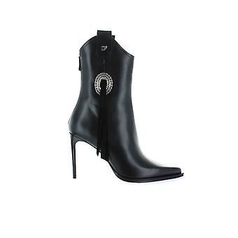 DSQUARED2 BLACK RODEO HEELED ANKLE BOOT