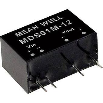 Keskimääräinen no MDS01L-05 DC/DC-muunnin (moduuli) 200 mA 1 W Ei. lähtöjen määrä: 1 x