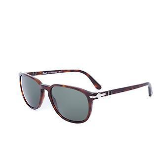 Persol Crystal Green Square Frame Dark Tortoise Sunglasses