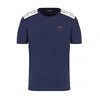 Emporio Armani Logo Stretch Bademode T-Shirt Navy 211819 0P462
