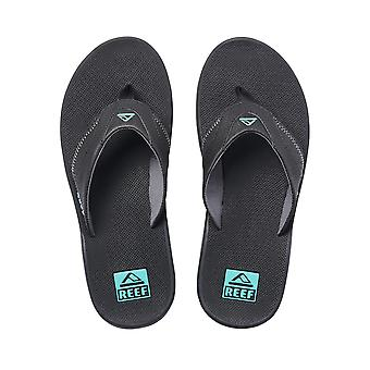 Reef Water Friendly Mens Sandals with Bottle Opener ~ Fanning neon blue