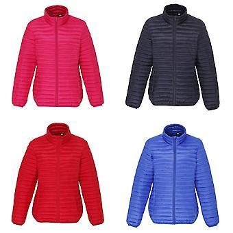 2786 Womens/Ladies Tribe Hooded Fineline Padded Jacket