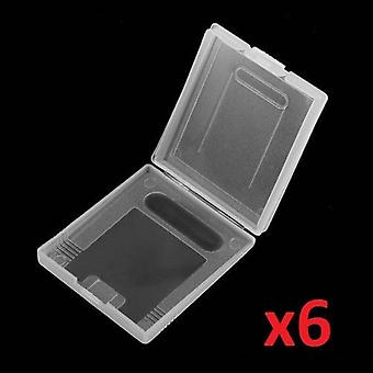 6x Game Card Case Holder Clear Box for Nintendo Gameboy Original Color Colour