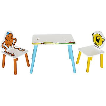 Kiddi Style Mr Men Table With Two Chairs