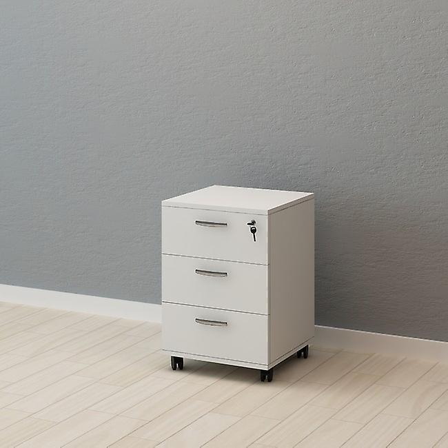 Cassettiera Straga Colore Bianco in Truciolare Melaminico, Plastica, Metallo, L45xP45xA67 cm