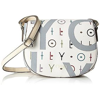 Oilily Jolly Letters Shoulderbag Shf - White Woman Shoulder Bags (Offwhite) 7x17x22cm (B x H T)