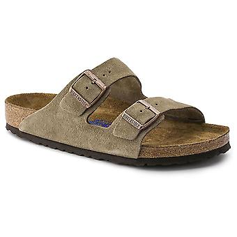 Unisex Adults Birkenstock Arizona Soft Footbed Suede Leather Sandals