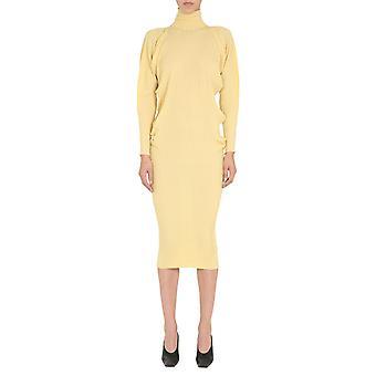 Bottega Veneta 626961vkwg07050 Women's Yellow Wool Dress