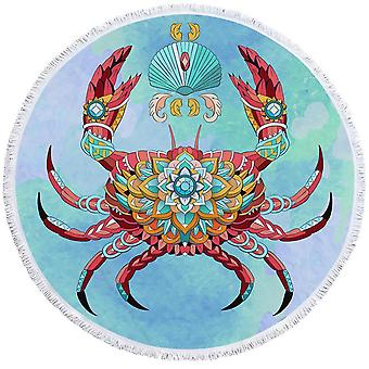 Diamond Crab Beach Towel