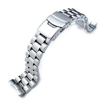 Strapcode watch bracelet 22mm endmill watch band for seiko diver skx007, brushed solid stainless steel