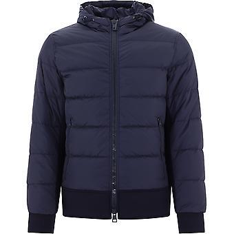 Herno Pi0635u120049200 Heren's Blue Nylon Down Jacket
