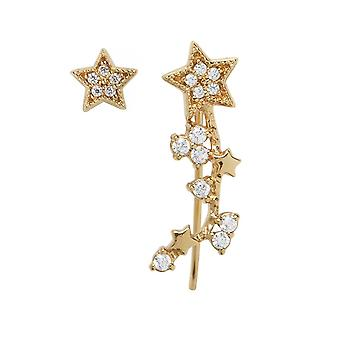 Olivia Burton Watches Obj16cle01 Celestial Star Crawler And Stud Gold Earrings
