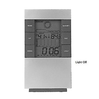 Household Digital Lcd Display Hygrometer Thermometer - Temperature Humidity Meter Clock Alarm