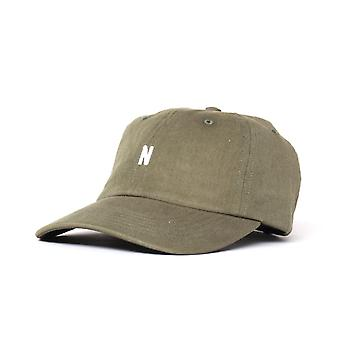 Norse Projects Cotton Twill Khaki Green Cap