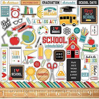 Echo Park Torna a scuola 12x12 pollici adesivo elemento