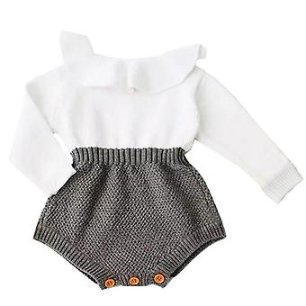 Baby Girl Wool Long Sleeve Romper Outfit