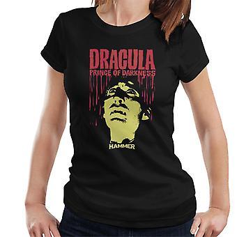 Hammer Dracula Prince of Darkness affisch kvinnors T-shirt