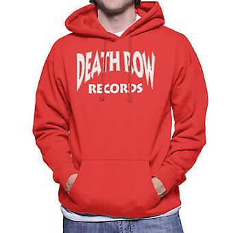 Death Row Records Logo witte mannen Hooded Sweatshirt