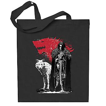 Game of Thrones kungen och den vita vargen totebag