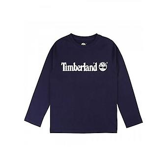 T-shirt à manches longues Timberland Kids Navy