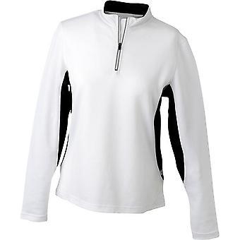 James en Nicholson Womens/dames lange mouwen Half Zip Running Shirt