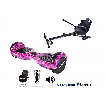 Paketti Hoverboard Regular Galaxy Pink + Hoverseat
