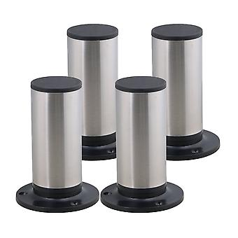 4pcs Stainless Steel Adjustable Furniture Foot Leg Feet 85*120mm