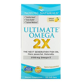 Nordic Naturals, Ultimate Omega 2X, 2.150 mg, 120 Soft Gels