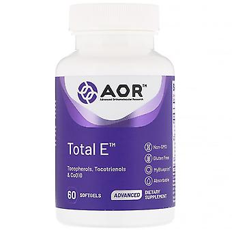 Advanced Orthomolecular Research AOR, Total E, 60 Softgels