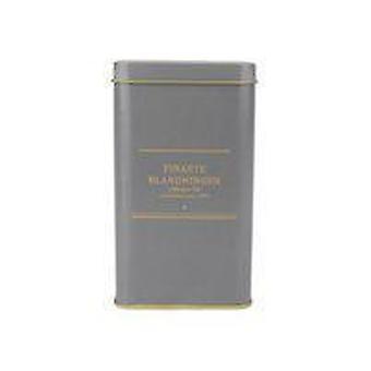 Tee-Glas grau/gold-Blatt
