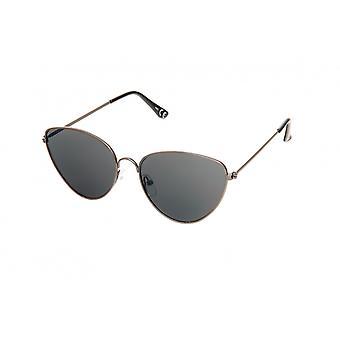 Gafas de sol de color negro femenino (H63)