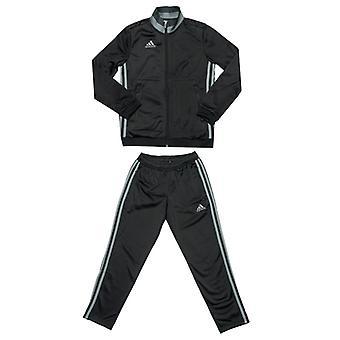 Boy's adidas Junior Con 16 Tuta in nero