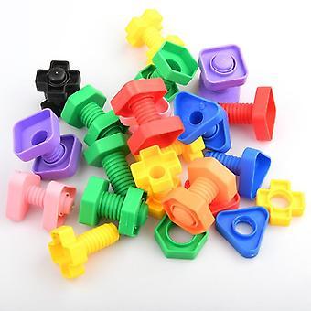 Blocchi di costruzione a vite, puzzle match a forma di dado (8 pezzi (4pair))