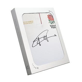 Jonny Wilkinson underskrevet England Rugby Shirt. I gaveæske