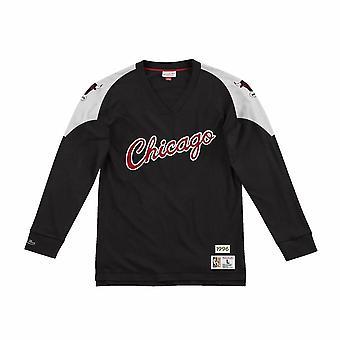 Mitchell & Ness NBA Chicago Bulls LNSLDF18022CBUBLCK universal todos os anos masculinos t-shirt