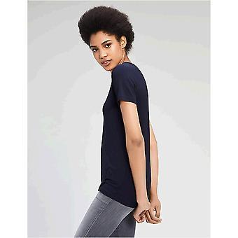 Brand - Daily Ritual Women's Jersey Short-Sleeve V-Neck T-Shirt, Navy,...