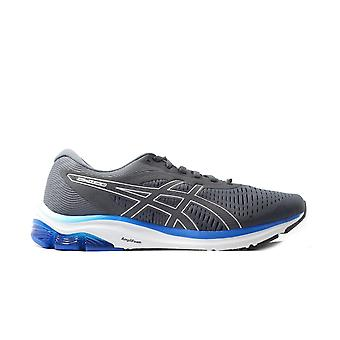 Asics Pulse 12 Carrier Grey Mesh Mens Lace Up Running Trainers