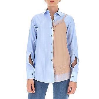N°21 G0711536rd11 Femme's Chemise en coton bleu clair/beige