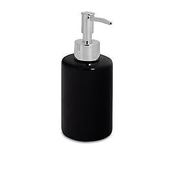 Dispensador de jabón - Botella de bomba de mano para hogares de cerámica esmaltada - 280ml - Negro