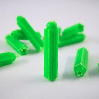 50pcs M6/m8/m10 Ribbed Plastic Anchor Wall Plastic Expansion Pipe Tube Wall Plugs